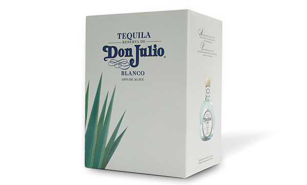 Diseño estructural y visual Tequila Don Julio Blanco